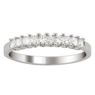 Womens 2mm 1/2 CT. T.W. Genuine White Diamond 14K Gold Band