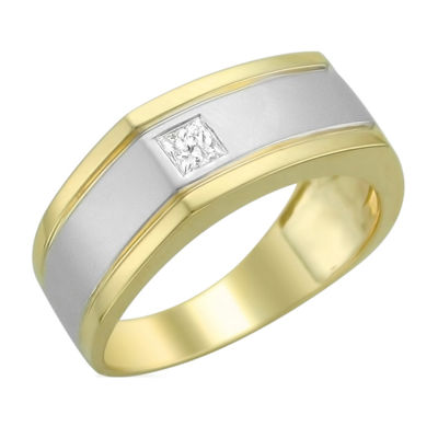 Mens 4mm 1/5 CT. T.W. Genuine White Diamond 14K Gold Band