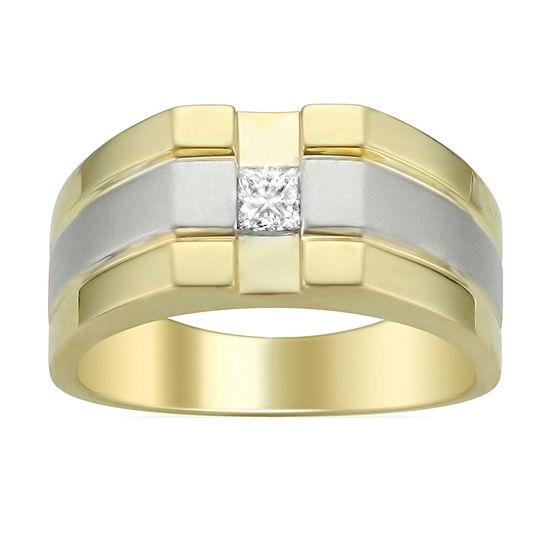 Mens 5MM 1/4 CT. T.W. Genuine White Diamond 14K Gold Wedding Band