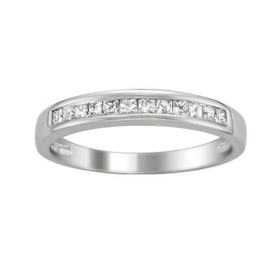 Womens 2mm 1/3 CT. T.W. Genuine White Diamond 14K Gold Band