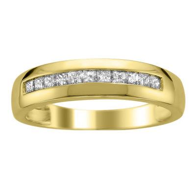 Mens 3mm 1/2 CT. T.W. Genuine White Diamond 14K Gold Band