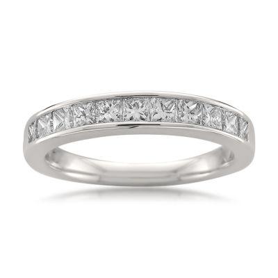 Womens 1 CT. T.W. Genuine White Diamond 14K Gold Wedding Band