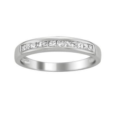 Womens 1/3 CT. T.W. White Diamond 14K Gold Wedding Band