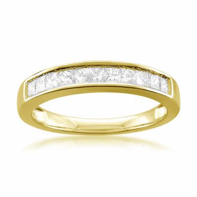 Womens 2.5mm 1/2 CT. T.W. Genuine White Diamond 14K Gold Band