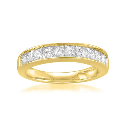 Womens 3mm 1 CT. T.W. Genuine White Diamond 14K Gold Band