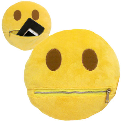 Kids Preferred Emoji Zipper Large Pillow Plush Doll