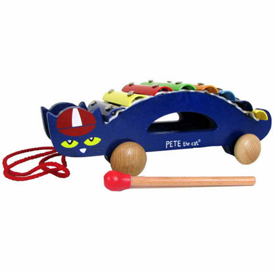 Kids Preferred Pete The Cat Wood Xylophone Musical Instrument