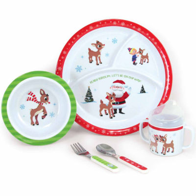 Kids Preferred Rudolph 5-Pc. Melamine Set Interactive Toy - Unisex