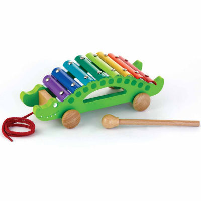 Kids Preferred Windsor Pull-Along Xylophone Crocodile Interactive Toy - Unisex