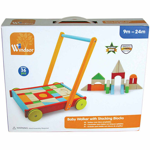 Kids Preferred Windsor Baby Walker With  Blocks 48-pc. Interactive Toy - Unisex