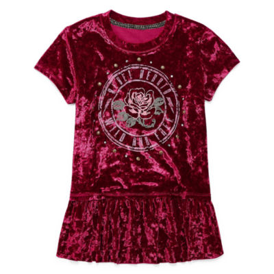Arizona Crushed Velvet Graphic Top - Girls' 7-16 and Plus