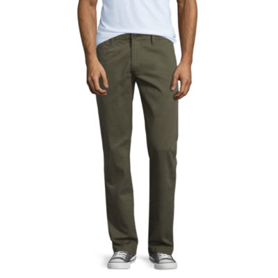 Arizona Mens Low Rise Slim Fit Flat Front Pant