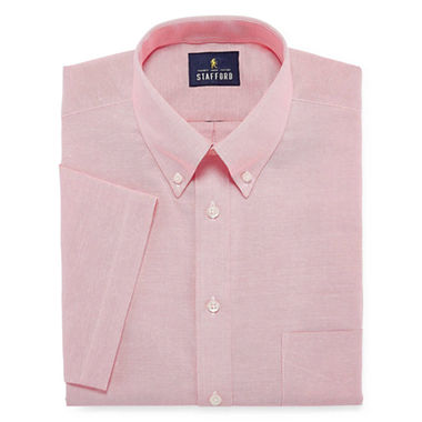 Stafford travel wrinkle free oxford short sleeve dress for Where to buy stafford dress shirts