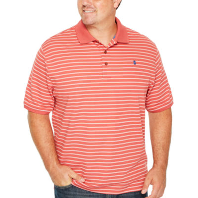 IZOD Short Sleeve Advantage Stripe Pique Polo Shirt- Big & Tall