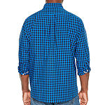 Us Polo Assn. Mens Long Sleeve Checked Button-Front Shirt Big and Tall