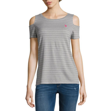 Us Polo Assn. Cold Shoulder Tee-Juniors