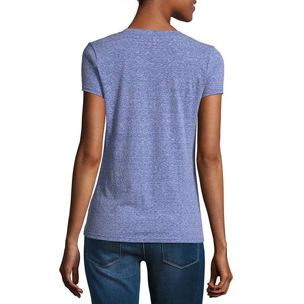 Us Polo Assn. Short Sleeve V Neck-Juniors