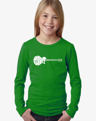 Los Angeles Pop Art Don'T Stop Believin' Long Sleeve Girls Word Art T-Shirt