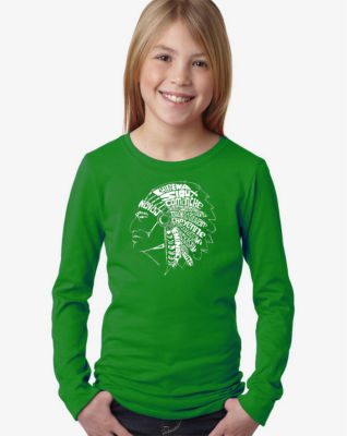 Los Angeles Pop Art Popular Native American Indian Tribes Long Sleeve Graphic T-Shirt Girls