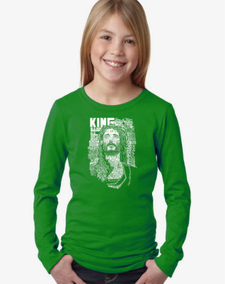 Los Angeles Pop Art Jesus Long Sleeve Graphic T-Shirt Girls