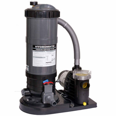 Blue Wave Hydro 90 Sq.-ft Cartridge Filter Systemwith 1 HP Pump for Above Ground Pools