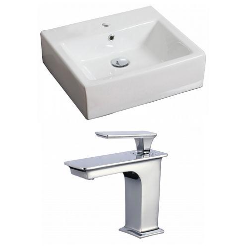 American Imaginations Wall Mount Ceramic Rectangular Vessel Sink