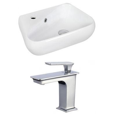 American Imaginations Wall Mount Ceramic Irregular Vessel Sink