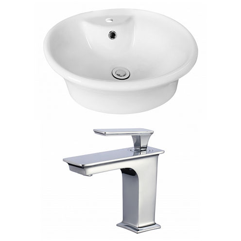 American Imaginations Above Counter Ceramic Round Vessel Sink