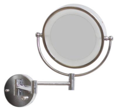 American Imaginations Round Brass Led Bathroom Mirror