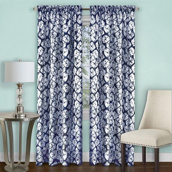 Batik Light-Filtering Rod-Pocket Curtain Panel