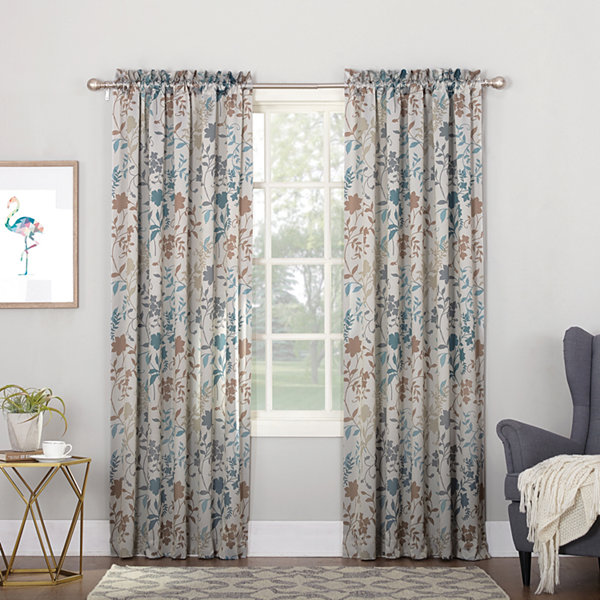Sun Zero Emory Room Darkening Rod-Pocket Curtain Panel