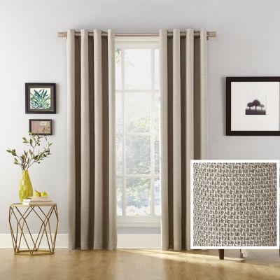 Sun Zero Baxter Energy Saving 100% Blackout Grommet-Top Curtain Panel