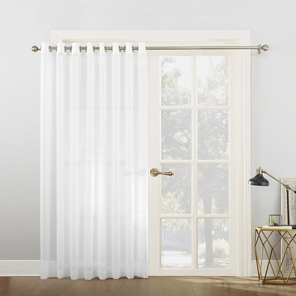 Sun Zero Emily Patio Sheer Grommet-Top Patio Door Curtain  sc 1 st  JCPenney & Sun Zero Emily Patio Sheer Grommet-Top Patio Door Curtain - JCPenney