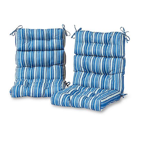 Greendale Home Fashions High Back Patio Chair Cushion - Set of 2