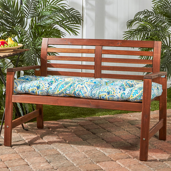 "Greendale Home Fashions 51"" Bench Patio Seat Cushion"