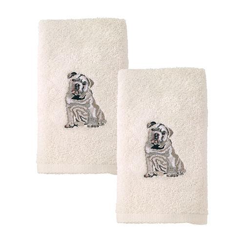 Avanti 2pk Dog Bulldog 2-pc. Embroidered Hand Towel