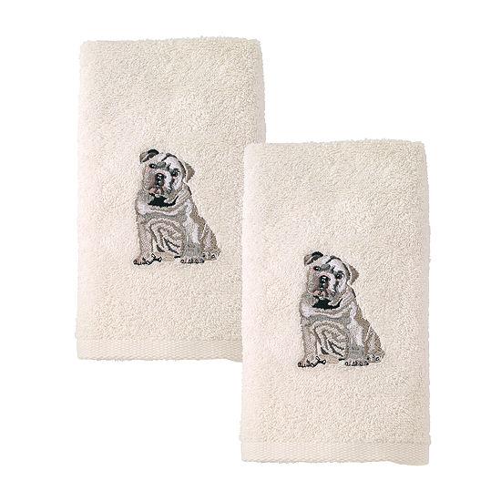 Avanti 2pk Dog Bulldog 2-pc. Hand Towel