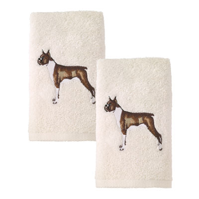 Avanti 2pk Dog Boxer 2-pc. Embroidered Hand Towel
