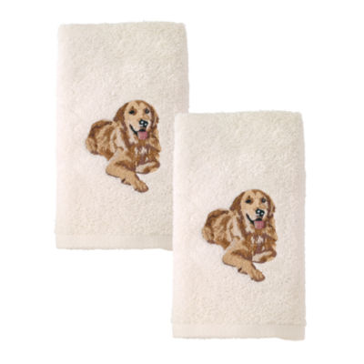 Avanti 2pk Dog Golden Retriever 2-pack Embroidered Hand Towel