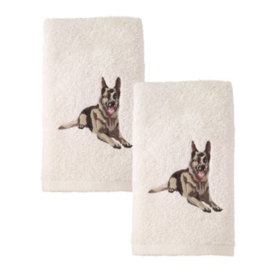 Avanti 2pk Dog Shepard 2-pc. Embroidered Hand Towel