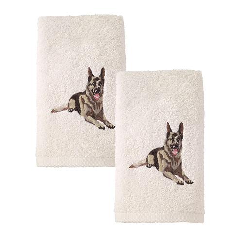 Avanti 2pk Dog Shepard 2-pc. Embroidered Hand Towel