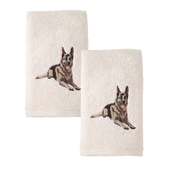 Avanti 2pk Dog Shepard 2-pc. Embellished Hand Towel