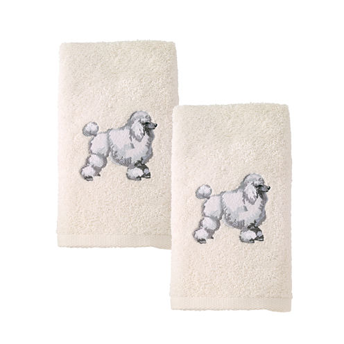 Avanti 2pk Dog Poodle 2-pc. Embroidered Hand Towel