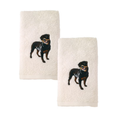 Avanti 2pk Dog Rottweiler 2-pc. Embroidered Hand Towel