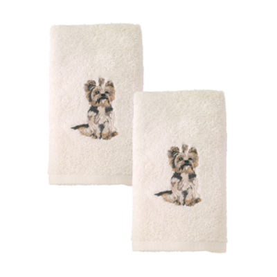 Avanti 2pk Dog York Terrier 2-pc. Embroidered Hand Towel