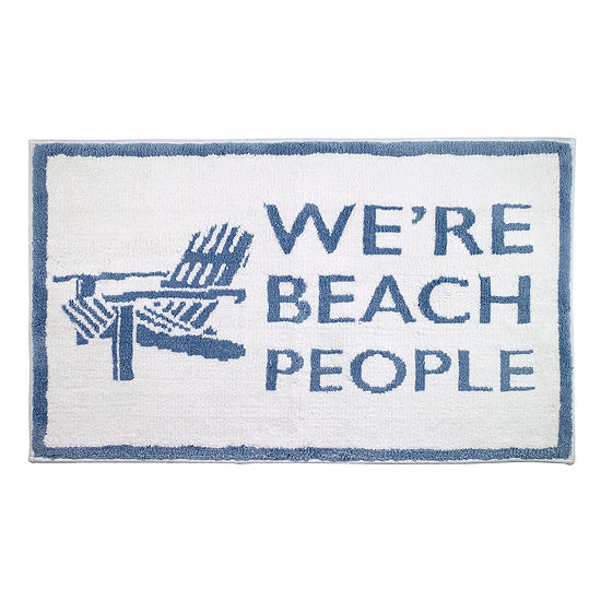 Avanti Beach Words Bath Rug