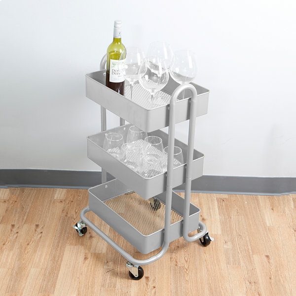 Mind Reader ' Whirl' Heavy Duty 3-Tier Metal Utility Cart