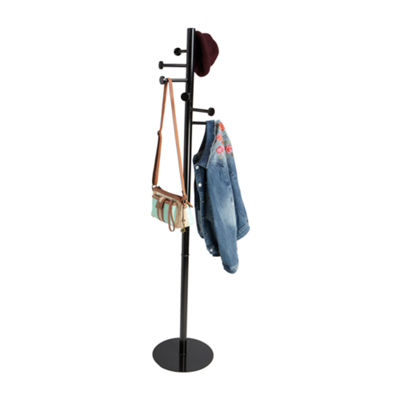Mind Reader 7-Hook Metal Coat and Hat Rack