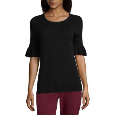 Liz ClaiborneElbow Sleeve Pullover Sweater-Talls