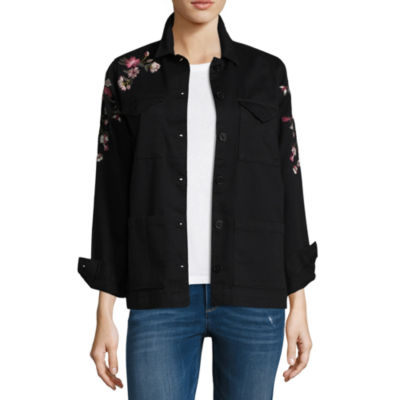a.n.a. Embroidered Shirt Jacket